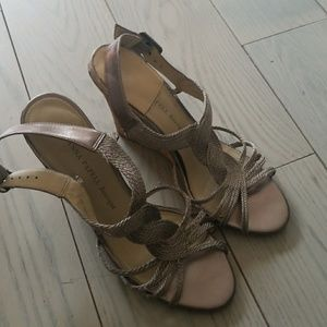 Adrianna Pappell 37.5 silver wedge heels